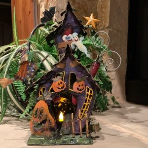 Halloween House Candle Holder